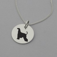 Afghan Hound Silhouette Necklace