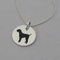 Airedale Terrier Silhouette Necklace