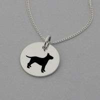 Bull Terrier Silhouette Necklace