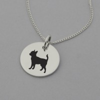 Chihuahua Silhouette Necklace