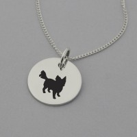 Long Haired Chihuahua Silhouette Necklace