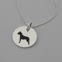 Pit bull Silhouette Necklace