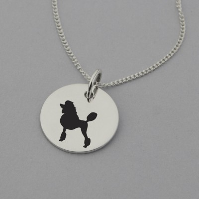 Poodle Silhouette Necklace