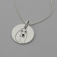 Basset Hound Engraved Necklace
