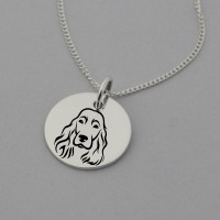 Cocker Spaniel Engraved Necklace