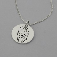 Collie Engraved Necklace