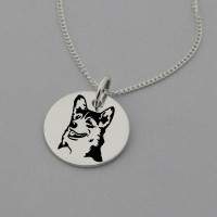 Corgi Engraved Necklace