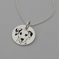 Dalmatian Engraved Necklace