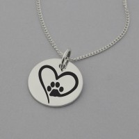 Paw in Heart Necklace