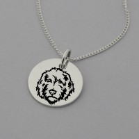 Labradoodle Engraved Necklace