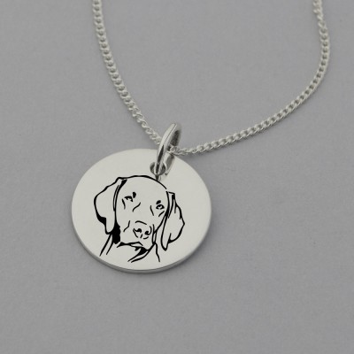 Weimaraner Engraved Necklace