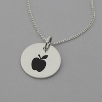 Teacher Sterling Silver Necklace with 'Best Teacher Ever' Engraved on the Back