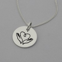 Caregiver Necklace with 'Angel without Wings' Engraved on the Back