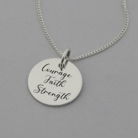 Courage Faith and Strength Necklace
