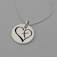 Cross in Heart Necklace