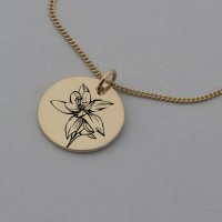 Orchid Rose Gold Engraved Necklace