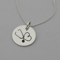 Stethoscope Sterling Silver Necklace