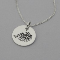 Angel Necklace with 'Guardian Angel' Engraved on the Back