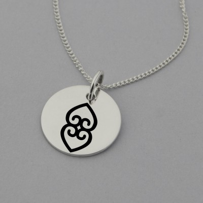 Asase ye duru (the earth has weight) necklace