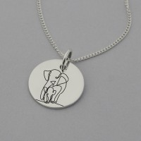 Elephant and Calf Necklace