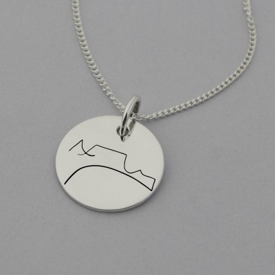 Table Mountain Engraved Necklace