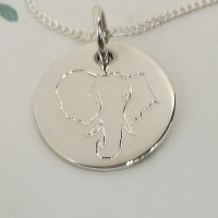 Elephant Head Engraved Necklace