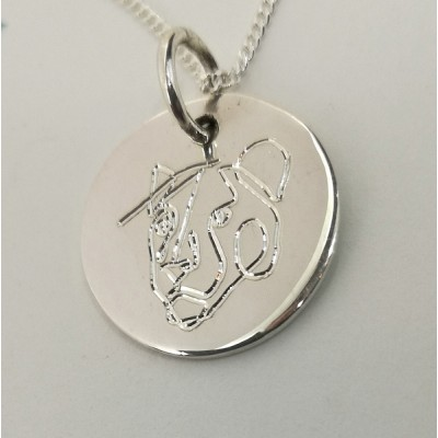 Lions Head Engraved Necklace