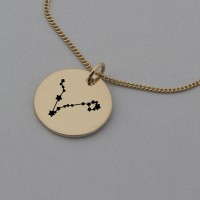 Pisces Rose Gold Constellation Necklace