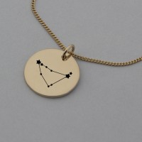 Capricorn Rose Gold Constellation Necklace