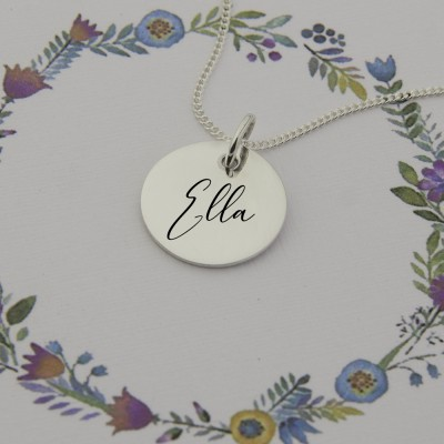 Engrave a name on Sterling Silver