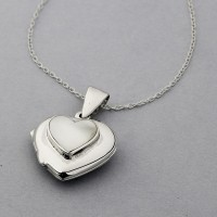 Heart Locket with Mother of Pearl Inset