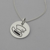 Mad Hatter Necklace with 'We're all mad here' Engraved on the Back