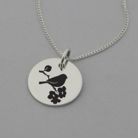 Bird Necklace with 'It's Okay' Engraved on the Reverse