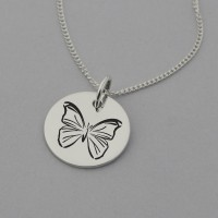 Butterfly Necklace with 'I believe in Me' Engraved on the Back