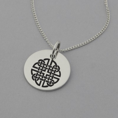 Dara Knot Necklace with 'Never Give Up' Engraved on the Back