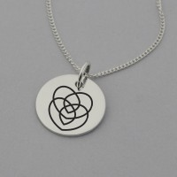 Motherhood Symbol Necklace with 'Love you Always' Engraved on the Back