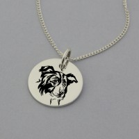 Border Collie Engraved Necklace