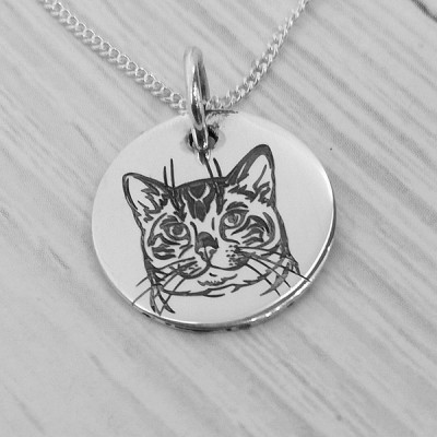 Bengal Engraved Cat Pendant