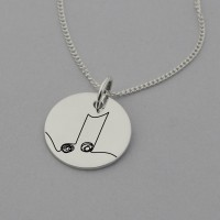 Music Note Necklace with 'Close your eyes. Listen. Nothing is missing.' on Reverse