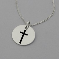 Cross Necklace with 'Walk in Faith' on the reverse
