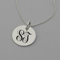 Swirly Monogram Sterling Silver Necklaces