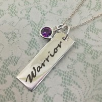 Warrior Necklace with Cubic Zirconia Stone