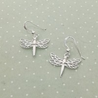 Hanging Dragonfly Earrings