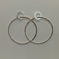 Big Hammered Circle Studs