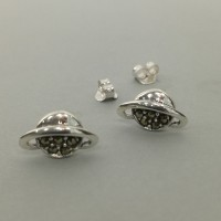Saturn Studs with Marcasites