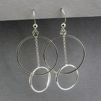 Classic circle in a circle chain Earrings