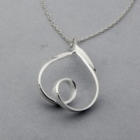 Looped Teardrop Necklace