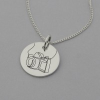 Camera Engraved Necklace