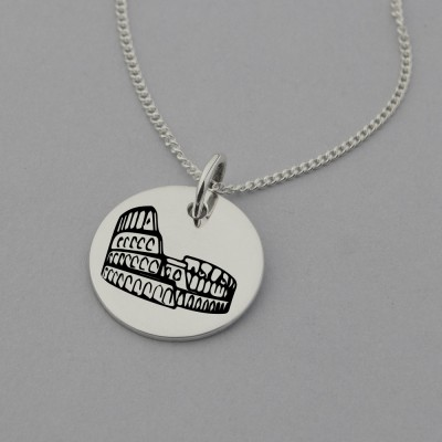 Colosseum Engraved Necklace