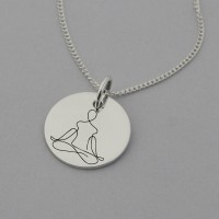 Meditation Necklace with 'Sky Above, Earth Below, Peace Within' Engraved on the reverse